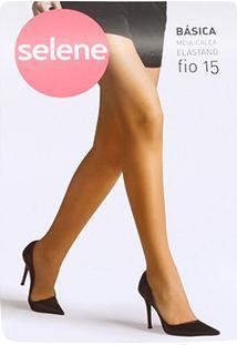 Meia Calça Selene Básica Fio 15 Feminina - Feminino-Bege