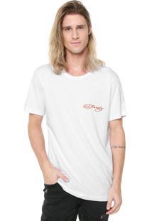 Camiseta Ed Hardy Tiger Signature Branca