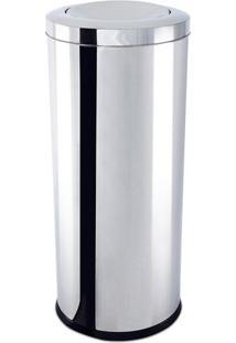 Lixeira Com Tampa Basculante- Inox- 71Xø30Cm- 47Brinox