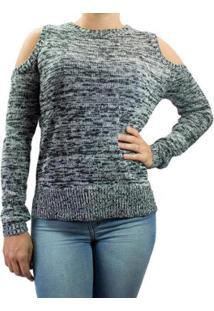 ... Blusa Feminina Facinelli Tricot - Feminino-Marinho bff8db71ad6ac