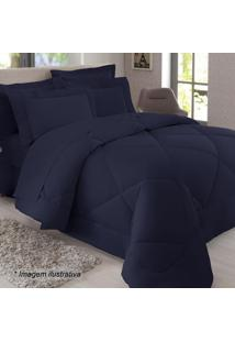 Edredom King Size- Azul Marinho- 250X290Cm- 300 Sultan