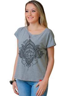 Camiseta Tee Wevans Flor De Lotus Cinza