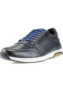 Sapatenis Florense Casual Easywear Azul Dh10