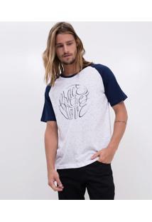 Camiseta Raglan Com Estampa