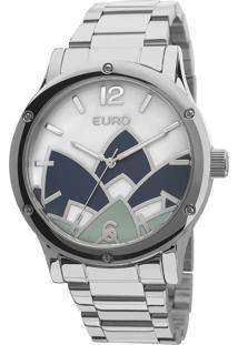Relógio Euro Analógico Feminino Aço Madrepérola Prata - Eu2035Ycy/3K Largura Da Caixa (Cm) 4,3