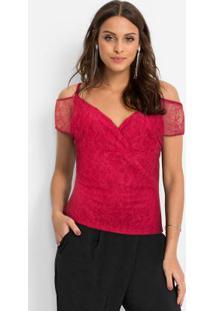 Blusa De Renda Vermelho
