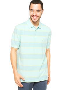 Camisa Polo Nautica Listrada Verde