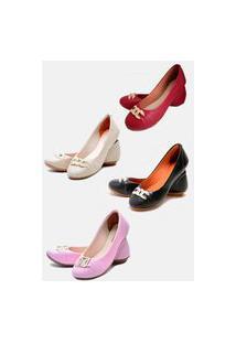 Kit 4 Pares Sapatilhas Estilo Shoes Casual Vermelho