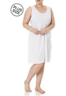 Camisola Plus Size Feminina Branco