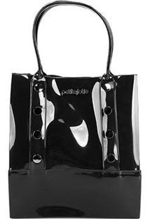 Bolsa Petite Jolie Shopper Bag Feminina - Feminino-Preto