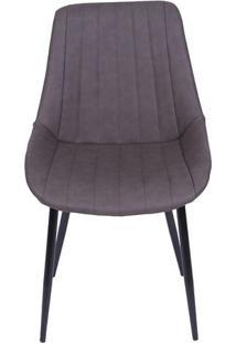 Cadeira Florença- Café & Preta- 84X50X42,5Cm- Oror Design