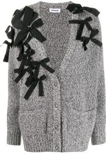 Brognano Cardigan With Flakes - Cinza