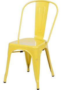 Cadeira De Jantar Retrô Or Design Amarelo