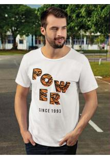 Camiseta Power Tiger Branca