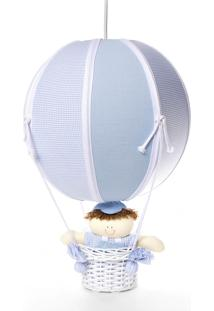 Lustre Balão Bolinha Potinho De Mel Azul
