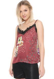 0797cb334801ed Dafiti Regata Ana Hickmann Cetim Fashion Rock Marrom