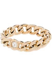 Zoë Chicco Anel Em Ouro 14K Com Diamante - Yellow Gold