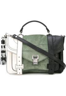 Proenza Schouler Bolsa Ps1+ Média Color Block - Branco