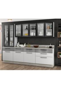 Cozinha Compacta Exclusive I 10 Pt 6 Gv Branca E Preta