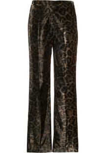John Richmond Calça Tameside Com Estampa De Leopardo - Verde