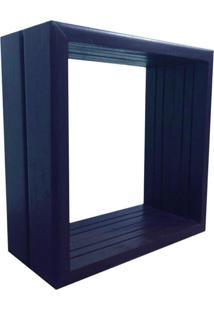 Nicho Rústico Madeira Alce Couch Azul 32X32X14