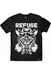 Camiseta Refuse Intense Wolf - Preta