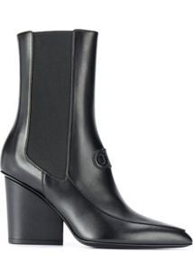 Salvatore Ferragamo Ankle Boot Gancini - Preto