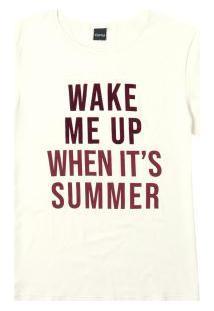 Blusa Off White Ampla Wake Me Up