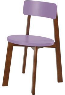 Cadeira Lina Cor Cacau Com Roxo - 31539 - Sun House