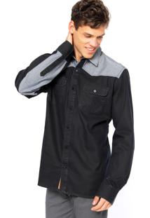 Camisa West Coast Bicolor Azul