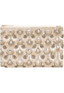 Clutch Bordada Pedraria