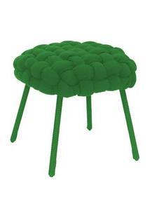 Puff De Corda Soft Redondo Verde