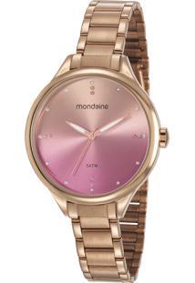 Kit Relógio Analógico Mondaine Feminino - 32101Lpmkre2K1 Rosê