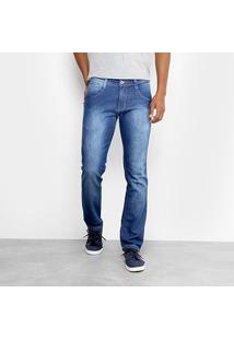 Calça Jeans Slim Biotipo Soft Estonada Masculina - Masculino-Jeans