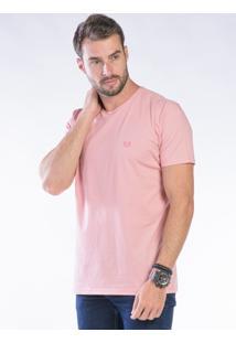 Camiseta Manga Curta Rosa Claro Básica - Kanui