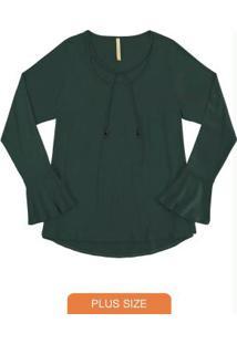 Blusa Malha Crepe Verde