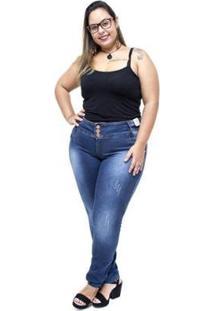 Calça Jeans Credencial Plus Size Skinny Ramires Feminina - Feminino-Azul