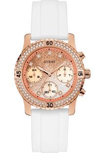 8a205f99899 Relógio Digital Branco Ouro Branco feminino