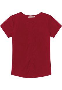 Blusa Feminina Em Suede Vermelho