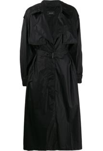 Isabel Marant Trench Coat Com Fechamento Oculto - Preto