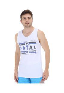 0ce837089d ... Camiseta Regata Fatal Estampada 20706 - Masculina - Branco