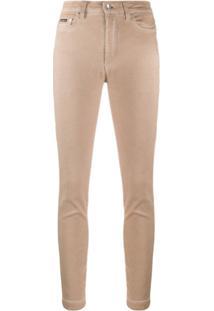Dolce & Gabbana High-Rise Skinny Trousers - Neutro