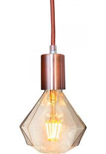 Pendente Com Lâmpada Decorativa Filamento Led Diamante Âmbar G125 Sl2039 Toplux - Kanui