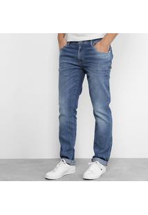 Calça Jeans Skinny Lacoste Live Fit Stone Masculina - Masculino-Jeans