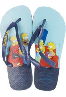 Sandalia Havaianas Simpsons - Masculino-Azul