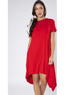 Vestido Curto Pontas Vermelho