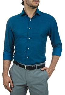 Camisa Social Slim Masculina Lisa - Masculino