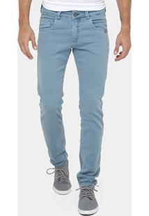 Calça Jeans Skinny Rock & Soda Color Estonada Masculina - Masculino
