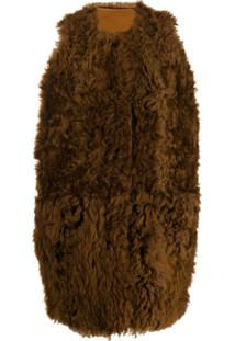 Marni Shearling Fur Gilet - Marrom