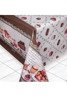 Toalha De Mesa Tã©Rmica Impermeã¡Vel 2,50 X 1,40 Cupcake - Multicolorido - Dafiti